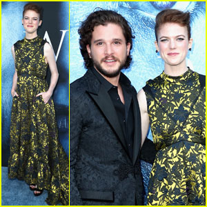 Kit Harington & Rose Leslie Couple Up For 'Game of Thrones' Season 7 Premiere