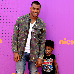 Russell Wilson Takes Step-Son Future Jr. to Nickelodeon Kids' Choice Sports Awards!