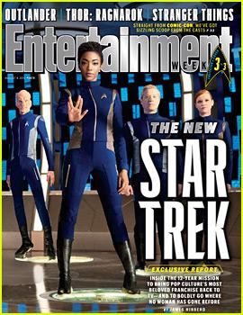 Sonequa Martin-Green Does Vulcan Salute on New 'EW' Cover