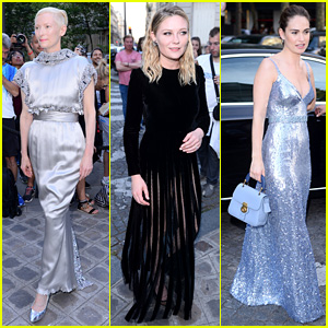 Tilda Swinton, Kirsten Dunst, & Lily James Bring the Glam to Vogue Party 2017