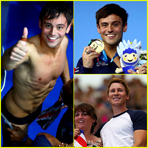 Tom Daley Wins Gold at Diving Championship, Husband Dustin Lance Black Cheers Him On!
