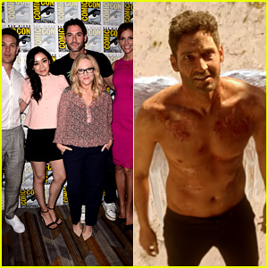 Tom Ellis Goes Shirtless as 'Lucifer' in Comic-Con Sizzle Reel!