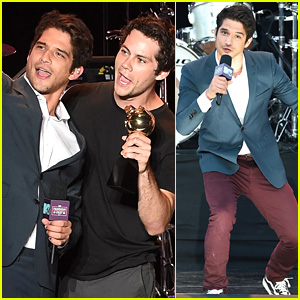 Tyler Posey Is the Host with the Most at MTV Fandom Fest!