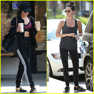 Vanessa Hudgens & Ashley Tisdale Get In a Monday Morning Workout