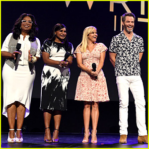 Chris Pine Wears White Pants & Hawaiian Shirt for 'Wrinkle in Time' D23 Cast Appearance