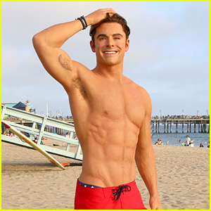 Zac Efron Has A Shirtless Wax Figure It Visited The Beach