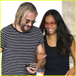 Zoe Saldana & Marco Perego Share a Laugh on Afternoon Date!