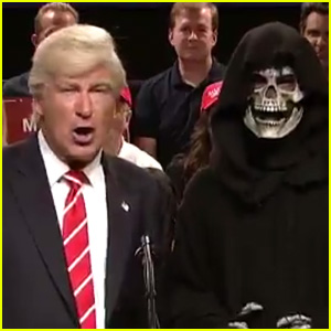 Alec Baldwin's Trump Says Goodbye to Grim Reaper Bannon on Special 'SNL' (Video)