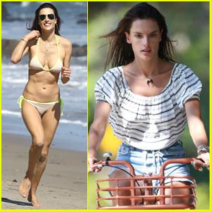 Alessandra Ambrosio Flaunts Her Bikini Body During Family Beach Day