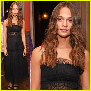 Alicia Vikander Steps Out for VIP Screening of 'Tulip Fever' - Watch Official Trailer!