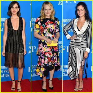 Alison Brie, Elisabeth Moss, & Jenny Slate Go Glam for HFPA Banquet