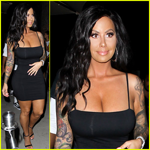 Amber Rose Looks Unrecognizable with Long Hair