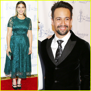 America Ferrera & Lin-Manuel Miranda Step Out at Imagen Awards!
