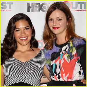 America Ferrera & Amber Tamblyn Have Mini 'Sisterhood' Reunion!