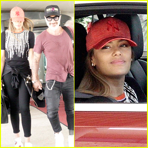 Former Miss Colombia Ariadna Gutierrez & Boyfriend Gianluca Vacchi Hold Hands at Italian Airport