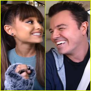 Ariana Grande & Seth MacFarlane Sing 'Suddenly Seymour' in 'Carpool Karaoke' Teaser - Watch Now!