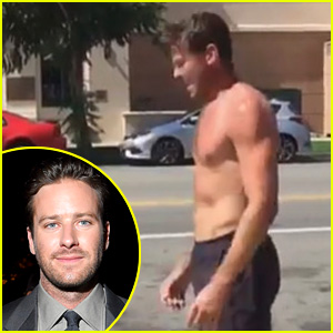 Armie Hammer Posts Video from His Shirtless Outdoor Workout