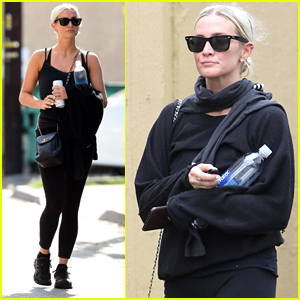 Ashlee Simpson Works Up a Sweat at the Gym