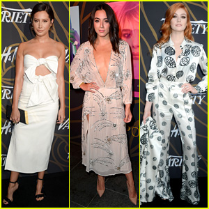 Ashley Tisdale, Chloe Bennet, & Katherine McNamara Show Off Their Style at Variety Event