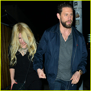 Avril Lavigne Holds Hands with Music Producer J.R. Rotem