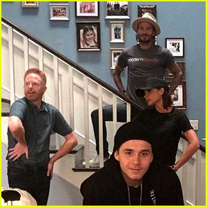 The Full Beckham Family Visited the 'Modern Family' Set!