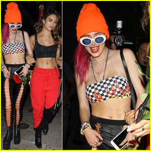 Bella Thorne Shows Off Her Abs During a Night Out!