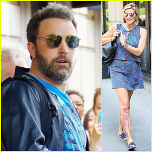 Ben Affleck & Lindsay Shookus Leave Their Hotel Together in New York City