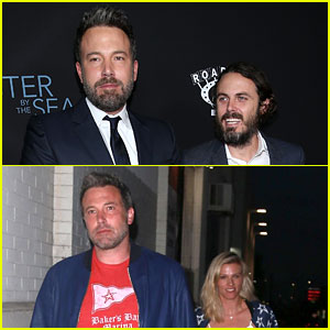 Casey Affleck Joined Ben & Lindsay Shookus For Their Night Out