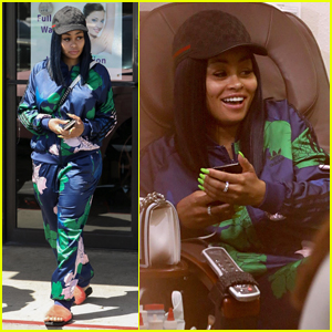 Blac Chyna Rocks Floral Tracksuit for Day of Pampering