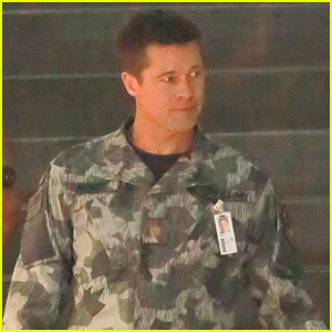Brad Pitt Dons an Army Uniform on 'Ad Adstra' Movie Set