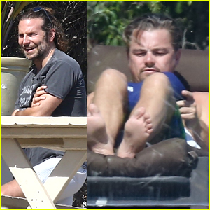Bradley Cooper Hangs Out with Leonardo DiCaprio in Malibu