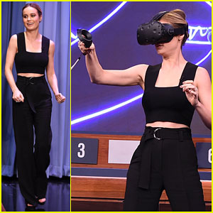 Brie Larson Teams Up with Jimmy Fallon on 'The Tonight Show's Virtual Reality Pictionary!