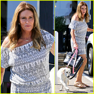 Caitlyn Jenner's Dog Accompanies Her on Starbucks Stop