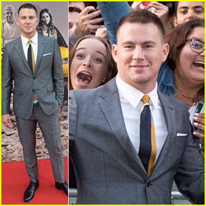 Channing Tatum Adds Pop of Color to His Suit with a Cool Tie