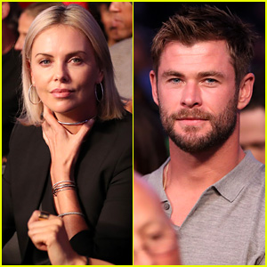 Charlize Theron & Chris Hemsworth Watch the Big Fight in Vegas