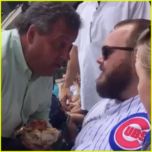 Governor Chris Christie Confronts Heckler at Baseball Game