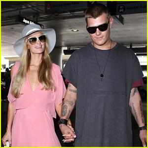 Chris Zylka Joins Girlfriend Paris Hilton for Trip to Ibiza