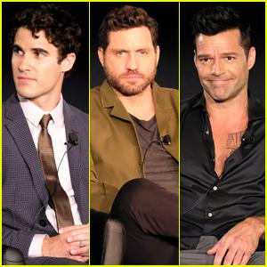Darren Criss, Edgar Ramirez, & Ricky Martin Promote 'Versace' at Summer TCAs