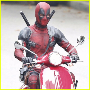 Deadpool Takes a Scooter Ride In New 'Deadpool 2' Set Photos