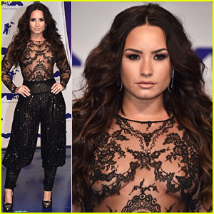 Demi Lovato Is Stunningly Sheer at MTV VMAs 2017!