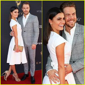Derek Hough Gets Support from Girlfriend Hayley Erbert at Emmys Choreography Nom Celebration!