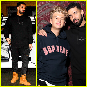 Drake Steps Out for Social Star Justin Roberts' Birthday (Video)