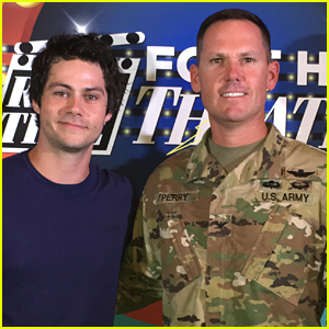 Dylan O'Brien Attends 'American Assassin' Screening at Texas Army Base