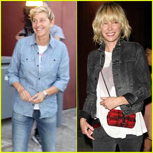 Ellen DeGeneres & Portia de Rossi Hit the Club for Ellen's Comedy Show!
