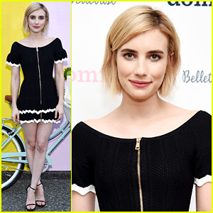 Emma Roberts Debuts New Blonde Bob Haircut!