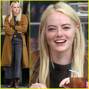 Emma Stone Starts Filming Netflix Series 'Maniac' in NYC!