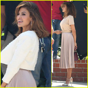 Eva Mendes Poses for a Photo Shoot in Los Angeles