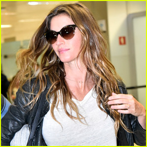 Gisele Bundchen Still Has Great Hair Day After a Long Flight!
