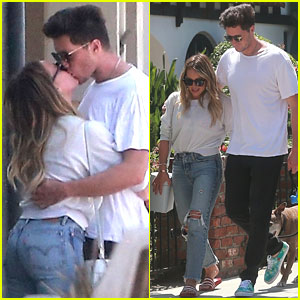 Hilary Duff & New Beau Ely Sandvik Show Off Lots of PDA