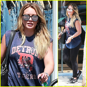 Hilary Duff Smiles in Style While Shopping in West Hollywood